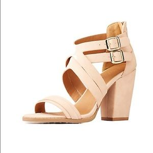 🎉 HP 🎉 Charlotte Russe Chunky Caged Block Heels